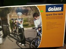 GRABER 1060S 2-Bike Spare Tire Bicycle Rack & Lock - Assembled Ready to Use