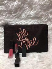 Laura Mercier 4 Pcs Lipstick ~ Lip Glace In PINK POP & Makeup Bag !