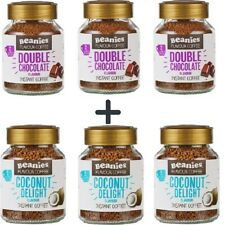 Beanies Flavoured Instant Ground Coffee 6 x 50g Jars Mix Your Flavours