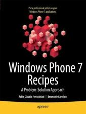 Windows Phone 7 Recipes : A Problem-Solution Approach: By Sorcinelli, Don Gar...