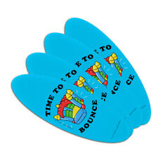 Time to Bounce House Funny Humor Oval Nail File Emery Board 4 Pack