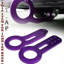 Honda Acura Civic Jdm 10Mm Front&Rear Racing Billet Aluminum Tow Hook Kit Purple