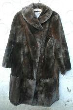 Lambswool Fur Coat, Brown in colour. Jules Van Hove Ltd.