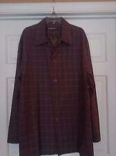 INSERCH Men's Jacket / Blazer XL Long Sleeve Plaid Brown / Beige NWOT Lined