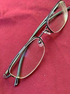 Nike 4057 013  Eyeglass Frames 718 50-19mm  Chrome/Green FRAME ONLY @019