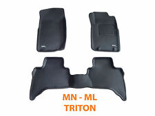 To suit Mitsubishi ML MN Triton 2006-2014 Dual Cab 3D Rubber Car Floor Mats