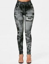 High Waist Women's Denim Jean Leggings Slim Stretch Pencil Jegging Elastic Pants