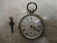 pocket watch, working Antique Waltham Sterling silver