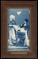 Washing Clothes Two Dutch Girls Scrub Board and Tub 1906 Postcard pc180a