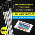 LED Aquarium Lights Submersible 18-118cm Glass Light for Fish Tank Underwater