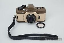 *Rare*  Pentax Auto 110 Marron SLR Film Camera w/ Pentax-110 24mm f/2.8 Lens
