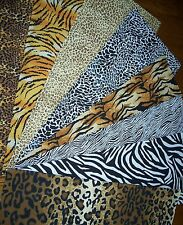 8 Animal Skin Prints Fat Quarters Bundle Fabric Precut Cotton Safari 100% Cotton