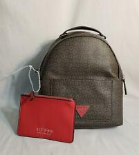 GUESS Women's Monogram Logo Backpack w/Removable Pouch MC7 Brown SV510730 NWT