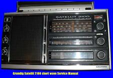 GRUNDIG SATELLIT 2100 SHORTWAVE  SERVICE MANUAL