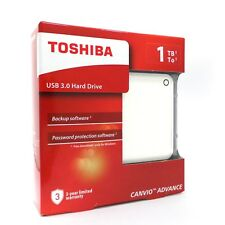 Toshiba Canvio Advance External Hard Disk HDD V9 1TB USB 3.0 White