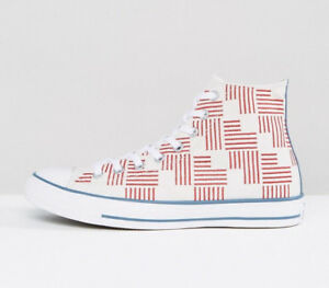 Converse All Star Hi American Flag Chuck Taylor Hi Top Sneakers 155382C NEW