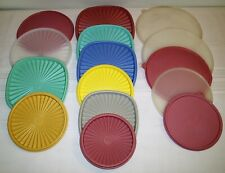 Large Group Lot of Tupperware Replacement Lids Covers All Sizes