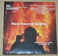 Mr. Scanner FCC Frequency CD ROM - New - Just Arrived 2017 Version
