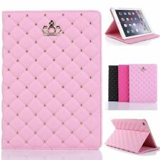 For New iPad 9.7''5 6th 2017 2018 Luxury Crown PU Leather Smart Case Stand Cover