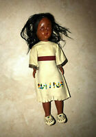 Vintage Native American Sleepy Eye Strung Plastic Doll Beaded Outfit 7""