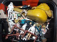 vtg~1977~1985~Star~Wars~droids~r2d2~luke~stormtrooper~jawa~gun~weapons~case~lot~