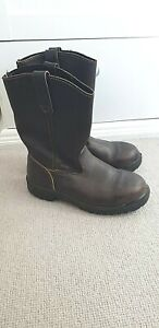 Blundstone Brown Leather Calf High Pull On Chunky Boots. AUS 5, UK 6