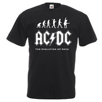 AC/DC Evolution Of Rock T-shirt  Mens Kids Sizes Angus Young Let There Be Rock