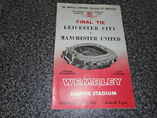 1963 FA CUP FINAL : LEICESTER CITY  v  MANCHESTER UNITED @ WEMBLEY ~ MAY 25th