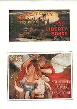 1919 Barron G Collier Dreams Come True 2 Mini Poster WW1 Liberty Loans War Bonds