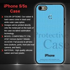 Top Designer Iphone 5/5s case & cover, cool blue design for Black Iphone