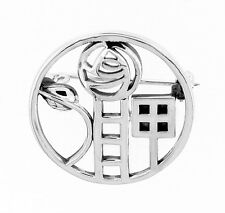 MACKINTOSH BAÑADO EN PLATA BROCHE 9162
