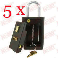 5 x Brand New NuSet Key Storage 4 Digit Numeric Combo Lock Boxes