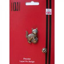 Kitten English Pewter Lapel Pin Badge Pussy Cat Lover Owner Present GIFT BOX