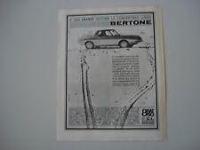 advertising Pubblicità 1966 FIAT 850 CL BERTONE CONVERTIBILE LUSSO