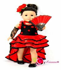 Arianna NINA FLAMENCO Spaniard 5pcs Costume Fits Fits 18 Inch American Girl Doll