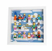 Simpsons Series 2 Minifigure Display Mount Acrylic Insert  using genuine LEGO