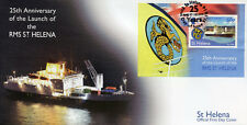 St Helena 2014 FDC RMS St Helena Launch Anniv 1v S/S Cover Ships Boats Stamps