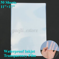 50 Sheets Waterproof Inkjet Transparency Film Paper For Screen Printing