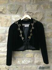 Ladies WINDSMOOR Black & Gold Bolero Velvet Jacket Size 12 Cropped Evening Party