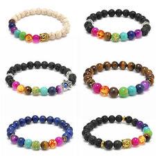 Women 7 Stone Chakra Healing Reiki Prayer Bead Bracelet Yoga Reiki Prayer Stone