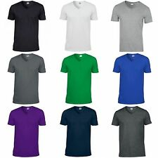Gildan Cotton V Neck T-Shirts for Men