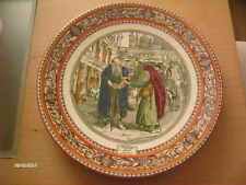 VINTAGE ADAMS MERCHANT OF VENICE SHAKESPEARE SHYLOCK & TUVAL COLLECTORS PLATE
