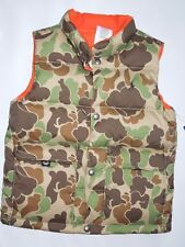 Polo RALPH LAUREN boy's reversible Camo and Orange down winter Vest youth sz 6