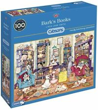 Gibsons Jigsaw Puzzle 1000 Piece - Bark's  Book Playful Dog