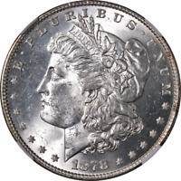 1878-P 8TF Morgan Silver Dollar NGC MS64 Blast White Great Eye Appeal