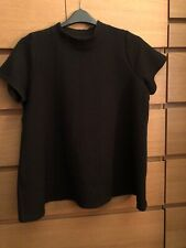 Simply Be Black High Neck Swing Top Size 18