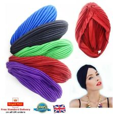 METALLIC RAINBOW TURBAN Ladies Afro Indian Head Cover Wrap Bandana Chemo Hat UK