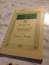 Requiem SATB Piano Johannes Brahms Masses and Vespers Plastic Comb