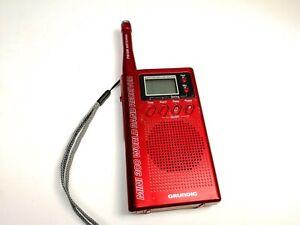Grundig Mini 300 World Band Receiver Handheld Compact Red SW/FM Radio