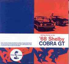 1968 SHELBY COBRA MUSTANG GT-350 GT-500 DEALER SELLING GUIDE BROCHURE